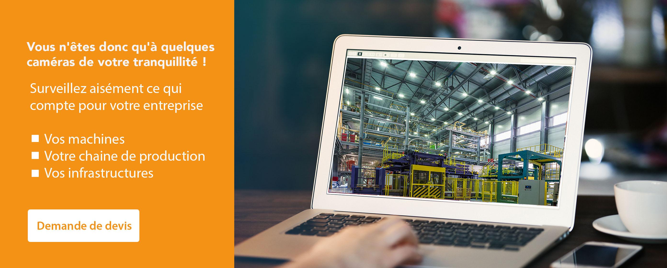 Vidéosurveillance industrie, usine et entrepôt - Systeo protection